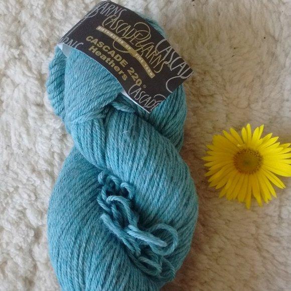 Cascade Knitting Yarn Light Blue/turquoise Wool